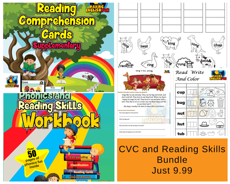 CVC phonics reading Workbook