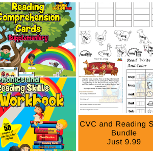 CVC phonics reading Workbook