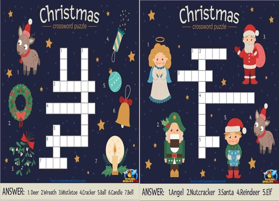 Christmas crosswords