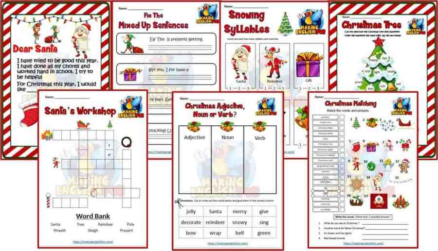 14 Christmas Worksheets