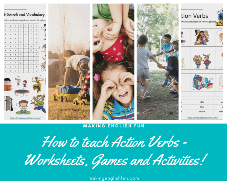 How to Teach Action Verbs, Worksheets,  games and Activities?