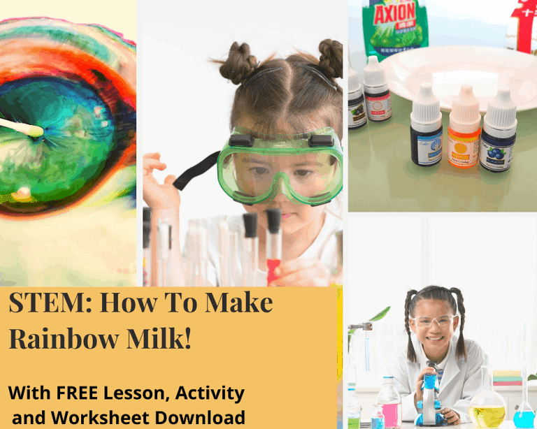 Free STEM Lessons:  Making a Milk Rainbow