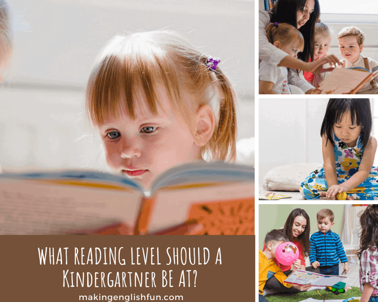 What Reading Level Should a Kindergartener Be At?