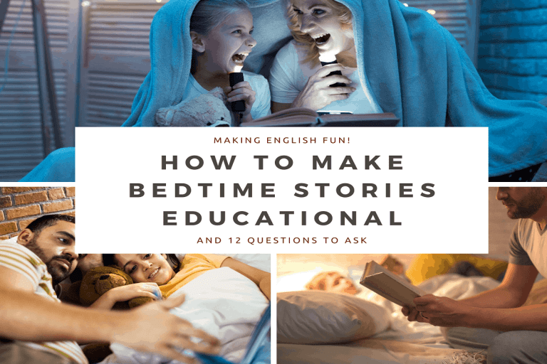 How to Make Bedtime Stories Educational (with 12 Questions to ask!)