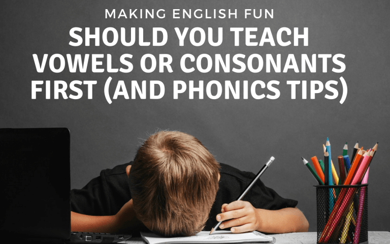 Should You Teach Vowels Or Consonants First?
