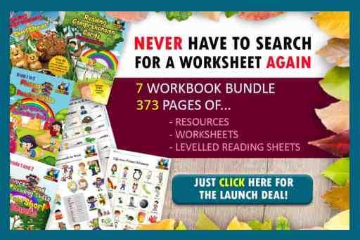 Phonics and Reading Workbook Bundle