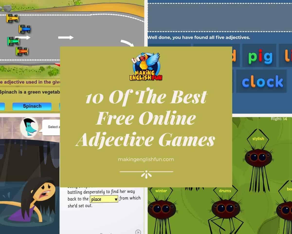 Best free Online Adjective games
