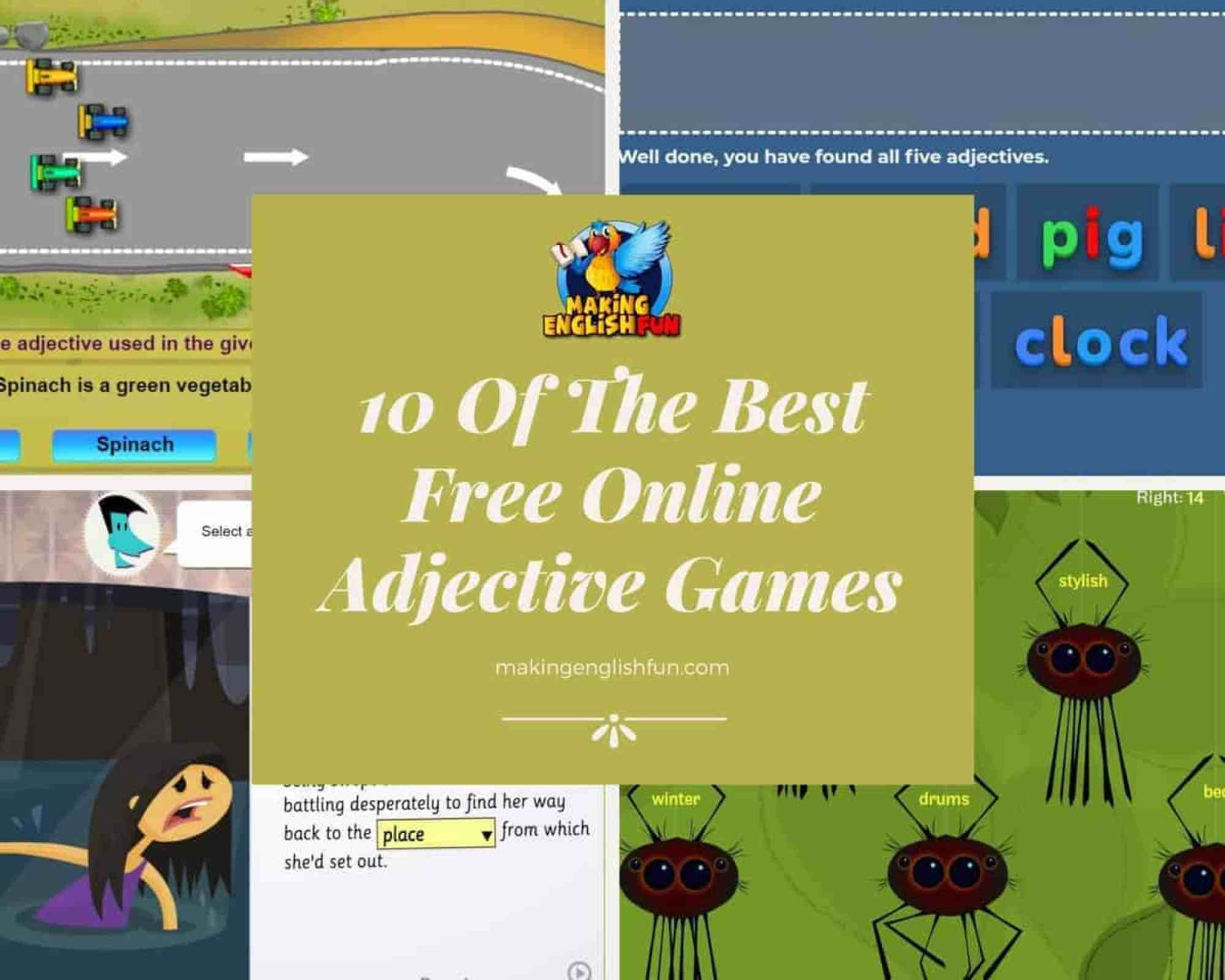 Best free Online Adjective games