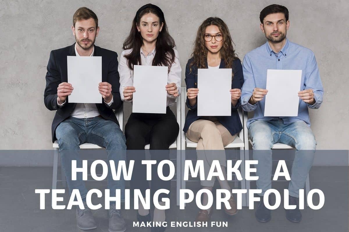 How to make a teaching portfolio