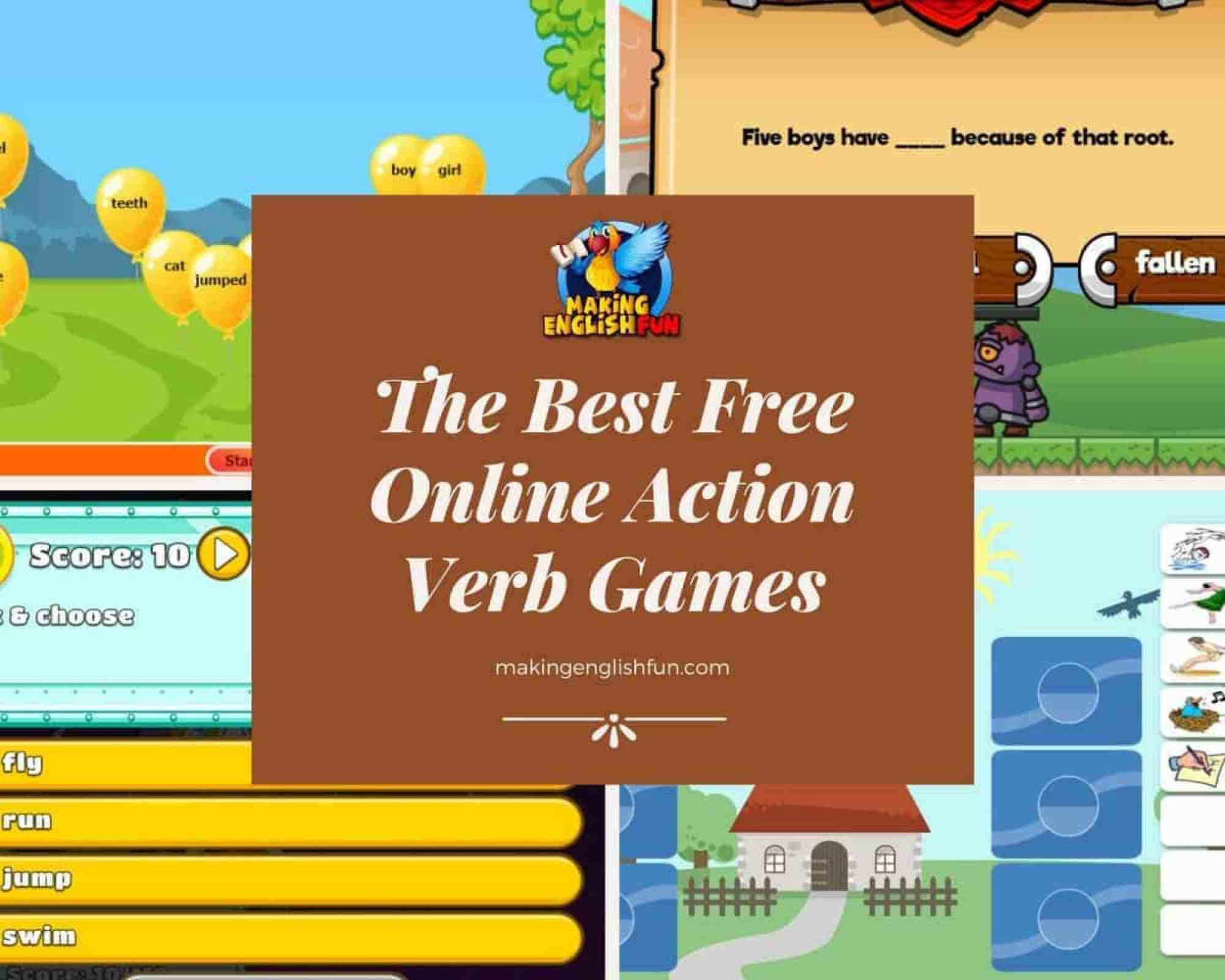 Best online action verbs games