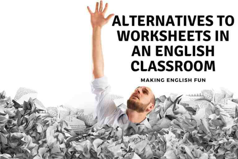 Worksheet Alternatives In An English Classroom