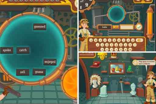 Free online past tense games