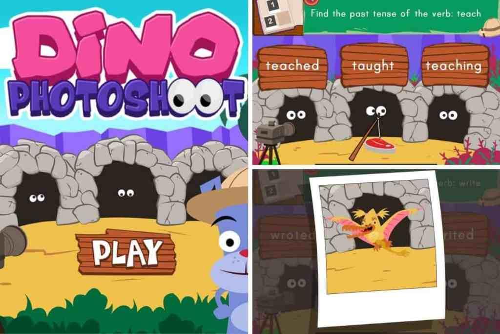 Online past tense games
