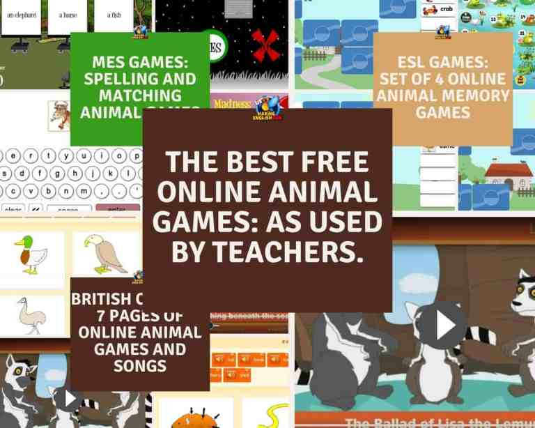 The Best Free Online Animal  Games For English Classrooms.
