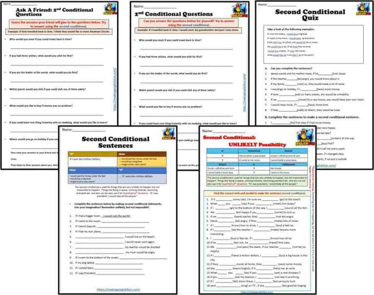 Second Conditional Worksheets