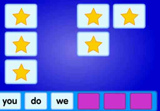 Online sight words game