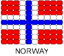 Norway Flag Pin Pattern