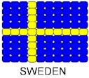 Sweden Flag Pin Pattern