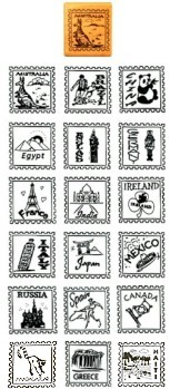 Girl Scout Thinking Day Stamps