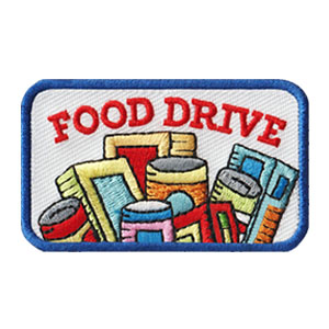Scout Food Drive Service Patch