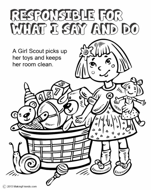 Girl Scout Law Coloring Book   Coloring Page Books and etc