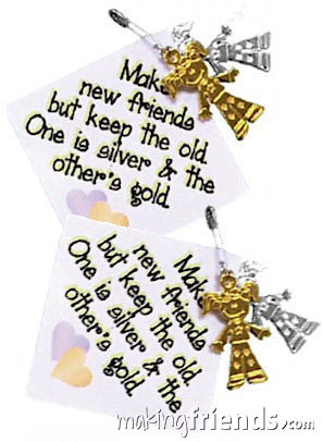 Make New Friends Girl Scout Friendship SWAP Kit via @gsleader411