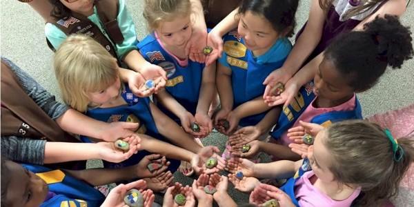 Girl Scout Kindness Rocks