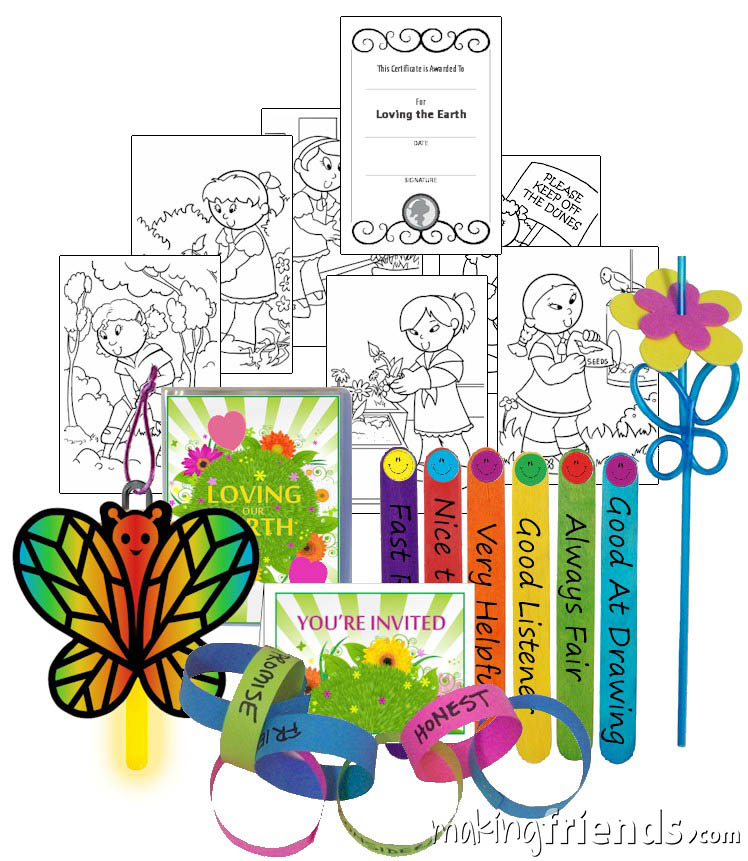 Girl Scout Daisy Earth Badge in a Bag via @gsleader411