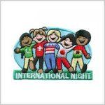 International Night Girl Scout Fun Patch