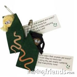 Camping Snakes Girl Scout Friendship SWAP Kit via @gsleader411