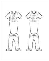 Superhero Serafina's Girl Guide Uniform for India Outline