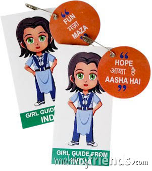 India International Friendship Swap Kit: Learn Hindi. Superhero Serafina wears a Girl Guide uniform from India for these World Thinking Day* crafts. Learn 30 different Hindi words while you make your crafts for swapping. No scissors or glue needed. Kit makes 30. Our page India   Ideas for Thinking Day* has more ideas for costumes, free printables, crafts, patches and more. via @gsleader411