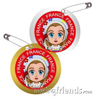 France International Costume Friendship Swap Kit. via @gsleader411