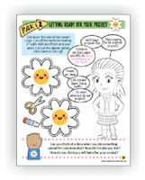Daisy Flower Garden Sample Page Download