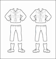 Switzerland Girl Guide Uniform for Thinking Day Outline