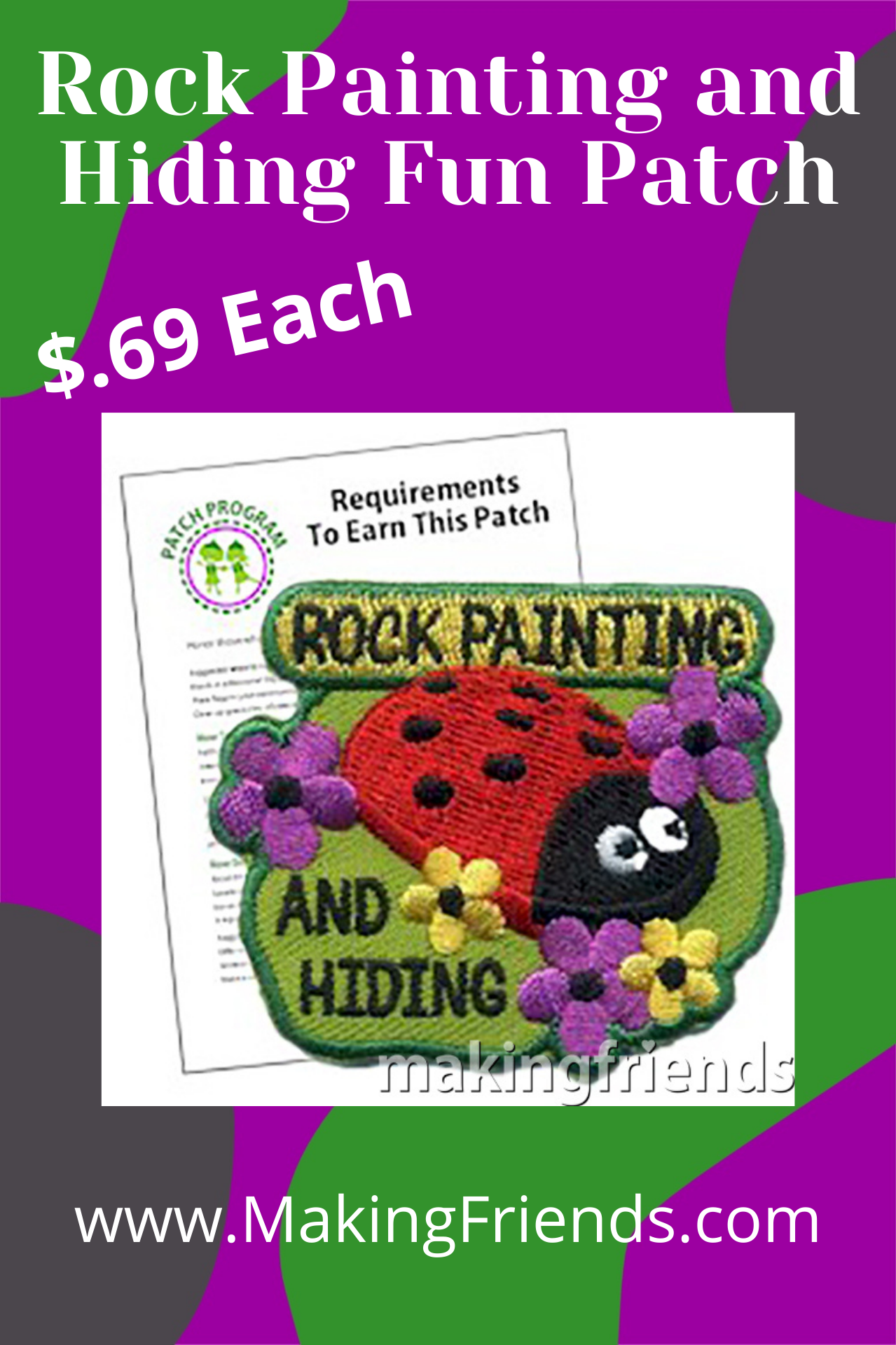 Rock Painting and hunting for painted rocks has quickly become a popular trend. It's a fun and creative way to combine art, outdoor activity, and community spirit. #makingfriends #patchprogram #rockpainting #painting #outdoorpainting #community #paintrocks #rockhiding via @gsleader411