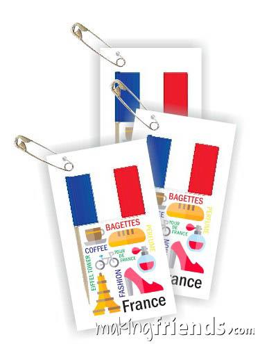 France Toothpick Flag Friendship Swap Kit. via @gsleader411