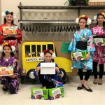 Cadette Girl Scouts representing Hong Kong for Thinking Day,