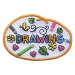 Girl Scout Drawing Patch