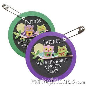 Friendship Owl Girl Scout Friendship SWAP Kit via @gsleader411