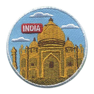 Girl Scout India Thinking Day Landmark Patch
