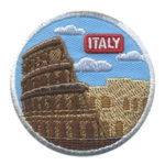 Girl Scout Italy Thinking Day Landmark Patch
