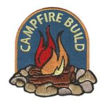 Girl Scout Campfire Build Patch