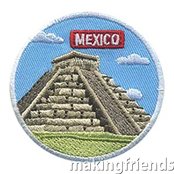 Remind your girls of the fun they had learning about Mexico for their international celebration with this patch! Only $.69 each and free shipping available! #mexicopatch #internationalpatch #funpatch #girlscoutpatch #gspatch #patches #boyscoutpatch via @gsleader411