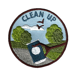 """The Clean Up Service Patch is from the Youth Squad Environmental Patch Program®. MakingFriends®.com partnered with Youth Squad to bring you a rewarding community service program with step-by-step instructions for every age level to make a meaningful impact in their community. This is one of our """"Friend"""" level patches which is great for younger achievers.   via @gsleader411"""