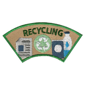 """The Recycling Advocate Service Patch is from the Youth Squad Environmental Patch Program®. MakingFriends®.com partnered with Youth Squad to bring you a rewarding community service program with step-by-step instructions for every age level to make a meaningful impact in their community. This is one of our """"Advocate"""" level patches. The requirements for our Advocate level patch program® are geared toward getting support for a specific project of your choosing. via @gsleader411"""