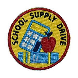 School Supply Drive Service Patch from Youth Strong