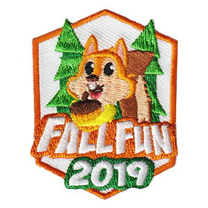 Fall Patch 2019 - Squirrel. Limited supply. On clearance while supplies last. Fall is a great time to take your troop or group outdoors. Enjoy the beauty of the leaves changing colors during a hike, picnic or bike ride. This time of year is also a great inspiration to explore the arts by capturing the beauty on a canvas, in photos or using found items to craft with. However you celebrate the season, the Fall Patch 2019 from MakingFriends®.com with the cute squirrel is sure to be a hit! via @gsleader411