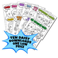 Superhero Downloads for Earning Daisy Girl Scout Petals