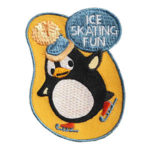 Ice Skating Penguin Fun Patch
